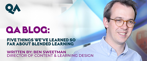 Blog Five things we've learned so far about blended learning